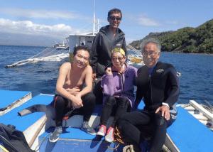 フィリピン記念潜水をアポ島・ラッキーダイブで